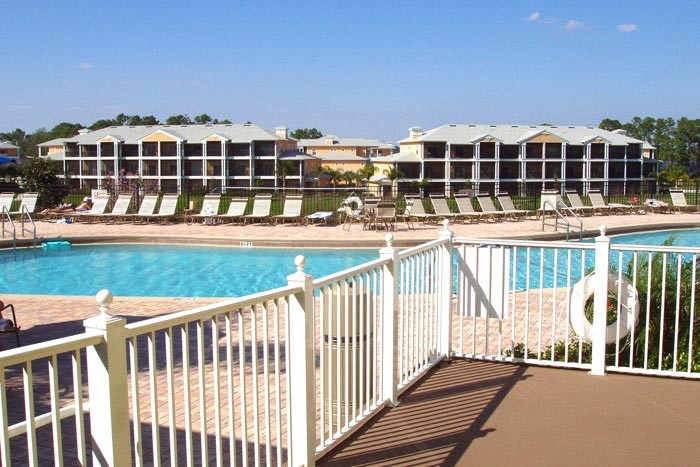 clubhouse balcony at Bahama Bay Resort Orlando Florida