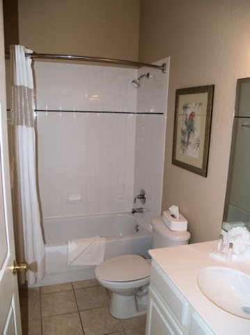 ensuite bathroom in condo at bahama bay resort orlando florida