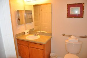 Family bathroom in condo at Bahama Bay Resort Orlando Florida