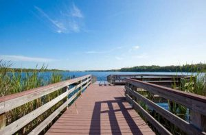 Fishing Dock at Bahama Bay Resort & Spa Orlando Florida