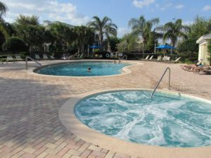 pool next to Condo at Bahama Bay Resort Orlando Florida