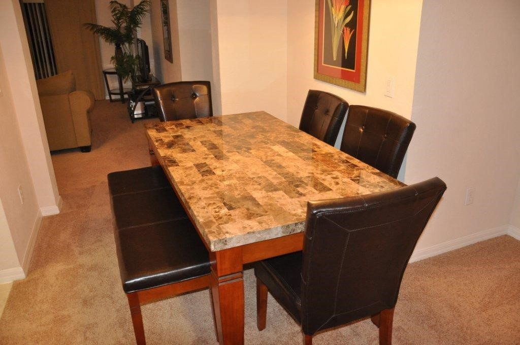 Condo dining table at Bahama Bay Resort Orlando Florida