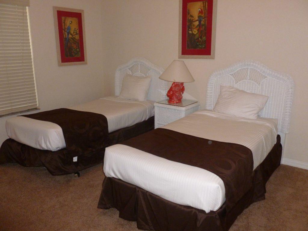 twin-beds in condo at Bahama Bay Resort Orlando Florida