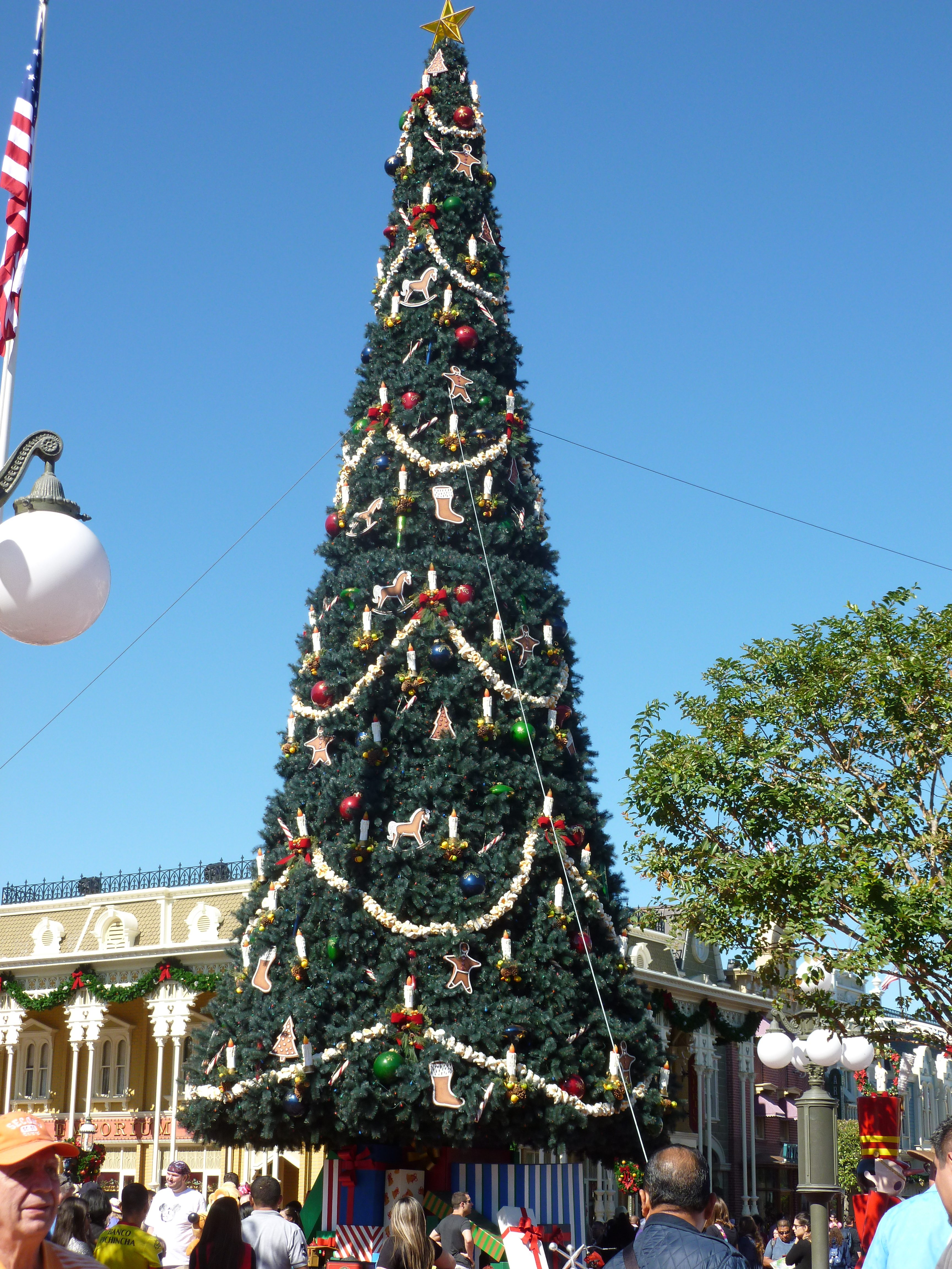 Christmas on Main Street at Magic Kingdom, DisneyWorld, Orlando, Florida