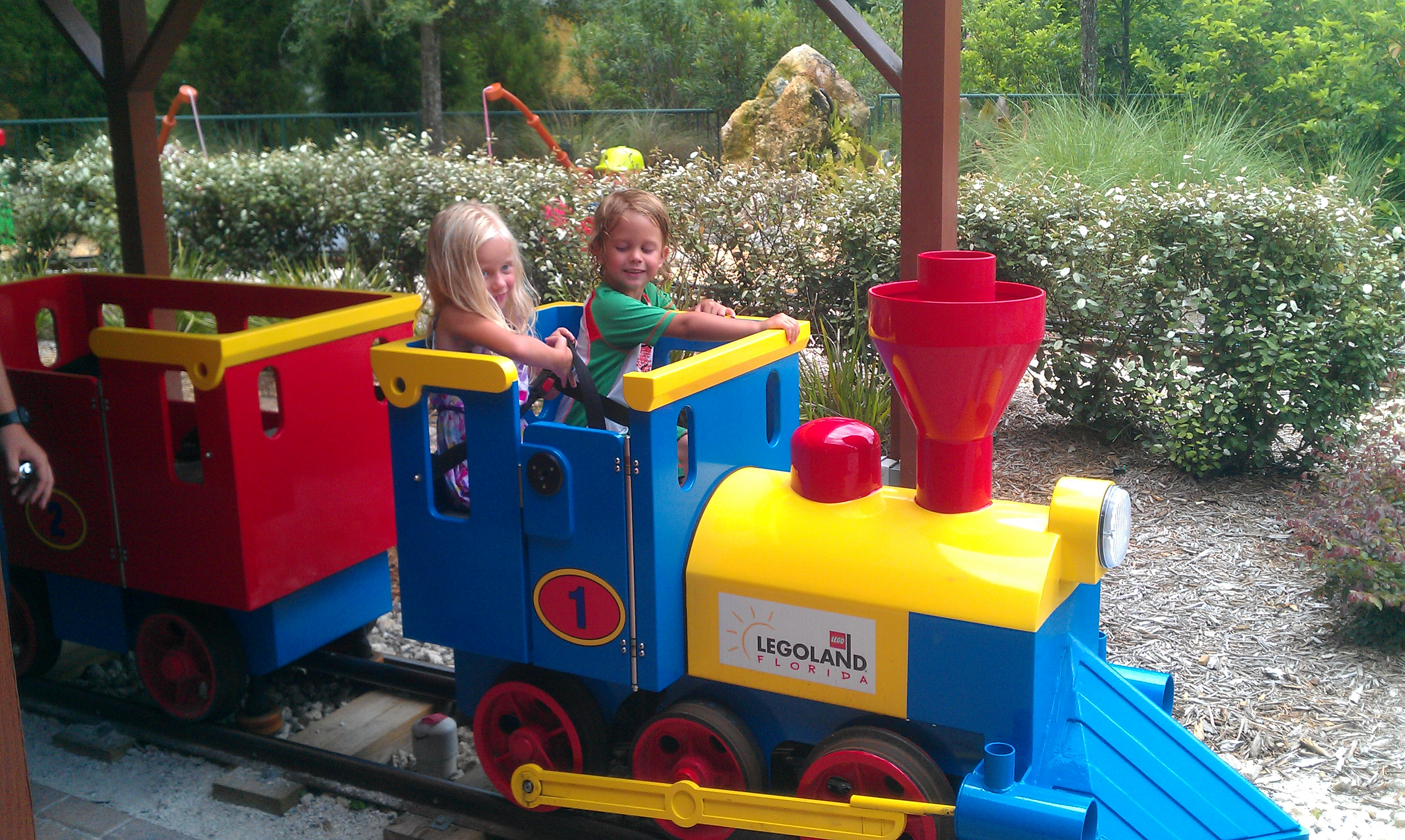 Kids having fun at Legoland Florida