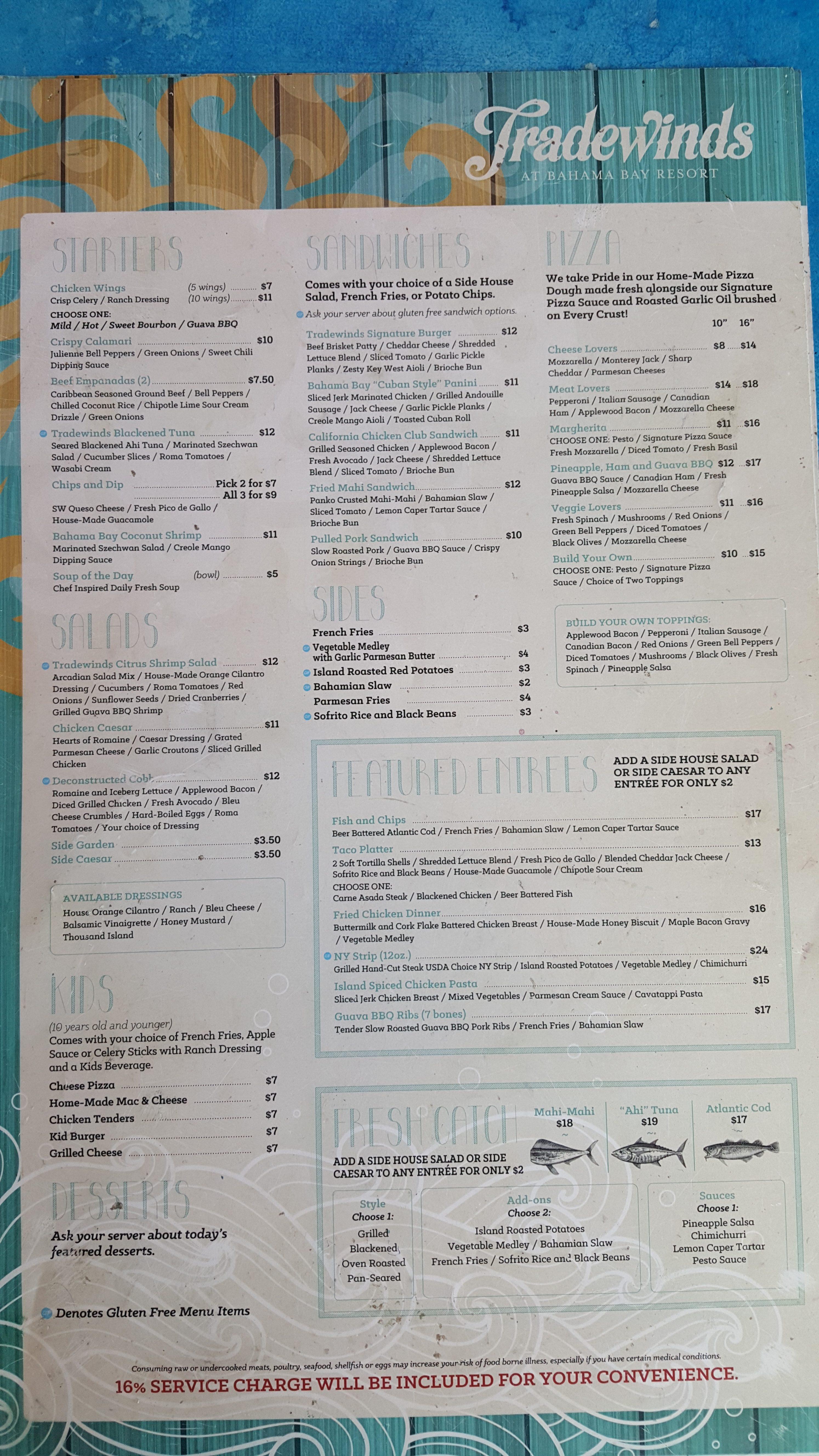 Tradewinds Restaurant Menu Food