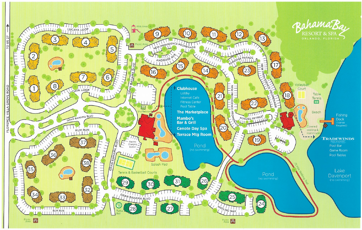 Bahama Bay Resort Map